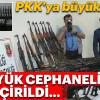 PKK'ya büyük şok! Bugüne kadar ki en büyük cephanelikleri ele geçirildi