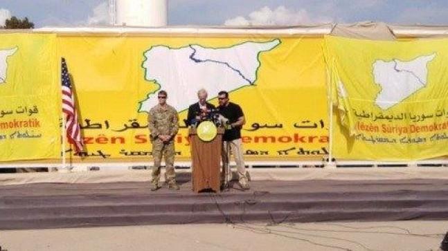 ABD'li diplomat YPG kutlamasında