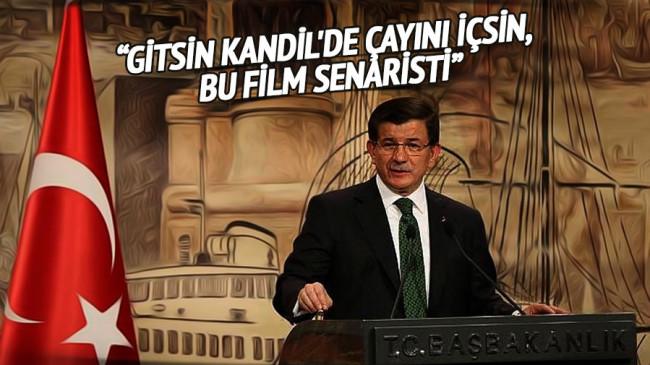 Davutoğlu'ndan HDP'li Önder'e: Gitsin Kandil'de içsin çayını